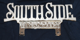 los angeles lowrider plaque